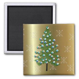 Eyeball Tree Square Magnet
