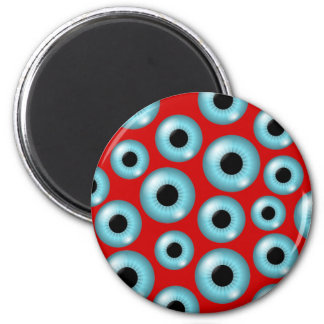 Eyeballs 6 Cm Round Magnet