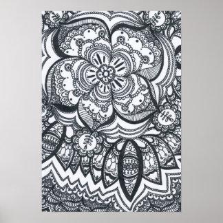 Eyed Flower Mandala Poster. Poster