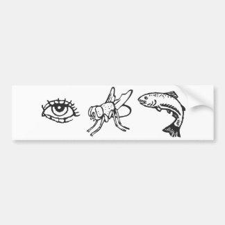EyeFlyFish Car Bumper Sticker