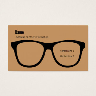 Eyeglasses Business Card