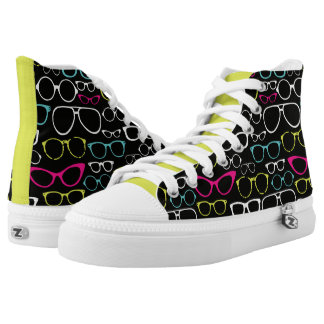 Eyeglasses Print High Top Sneakers