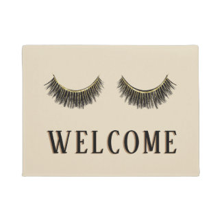 Eyelash & Brow Makeup Artist Beauty Salon Welcome Doormat