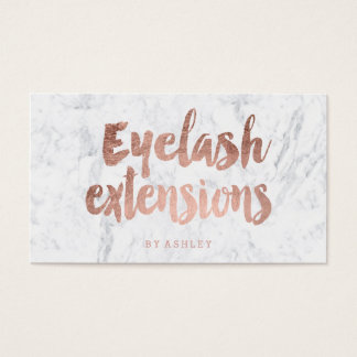 Eyelash custom modern rose gold typography marble