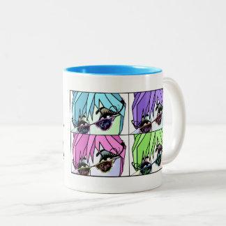 Eyelash Divas Lash Out! Two-Tone Coffee Mug