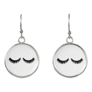 Eyelash earrings