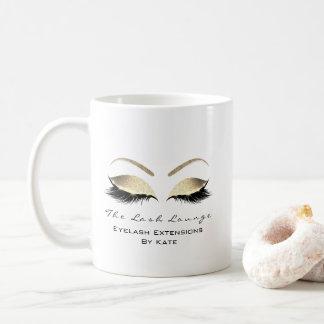Eyelash Extension Beauty Studio Gold Glitter Coffee Mug