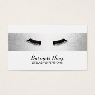 Eyelash Extensions Modern Silver Bar Elegant