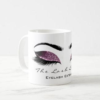 Eyelash Extention Beauty Studio Aubergine Glitter Coffee Mug