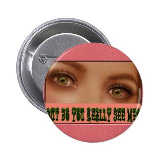 Eyelashes Pinback Buttons