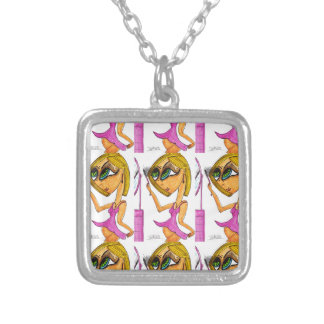 Eyelashes by Richard Cortez Silver Plated Necklace