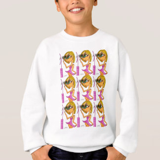 Eyelashes by Richard Cortez Sweatshirt