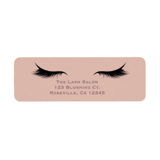 Eyelashes Lashes Beauty Salon Spa Makeup Custom Return Address Label