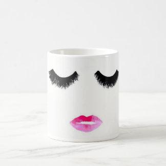 Eyelashes & lipstick coffee mug