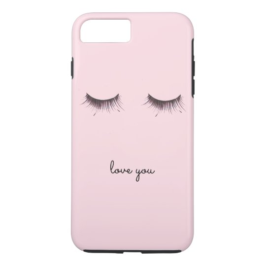 Eyelashes love you iPhone 8 plus/7 plus case