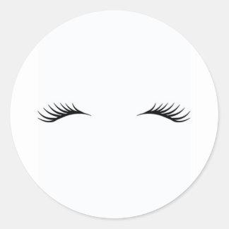 Eyelashes Round Sticker