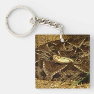 Eyeless Snake Double-Sided Square Acrylic Key Ring