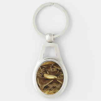 Eyeless Snake Silver-Colored Oval Key Ring
