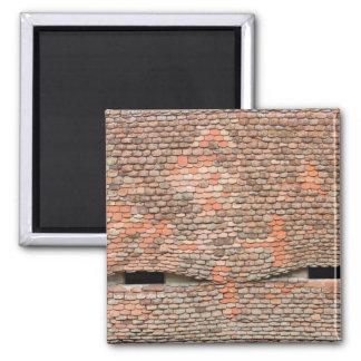 Eyelike dormer windows in a tiled roof magnet