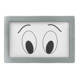 Eyes - face. rectangular belt buckles
