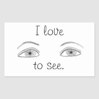 Eyes - I love to see, stickers