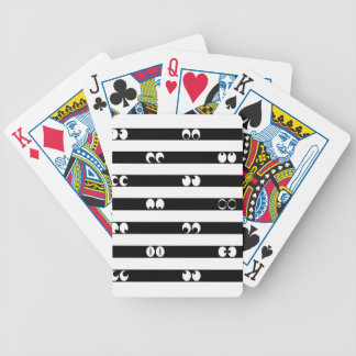 Eyes in Stripes Bicycle Playing Cards