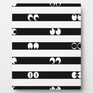 Eyes in Stripes Display Plaque