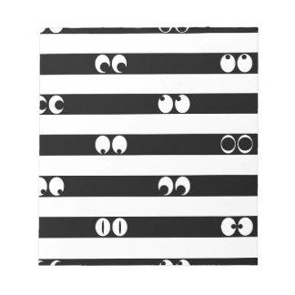 Eyes in Stripes Notepad