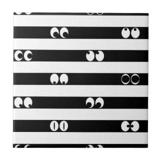 Eyes in Stripes Tile