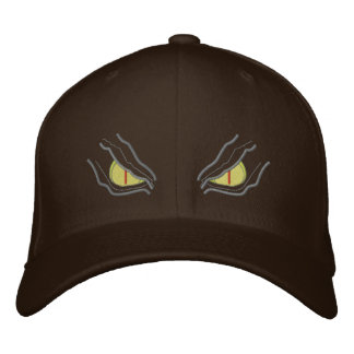 Eyes in the dark embroidered hat
