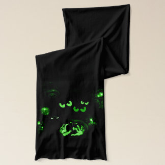Eyes in the Dark Spooky Long Scarf