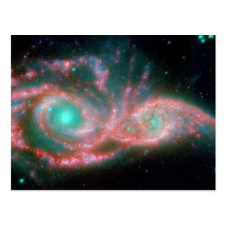 Eyes in the sky NGC 2207 NASA Postcard