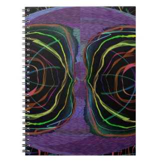 EYES Line Art Alien Sparkle Round Circle Oval Note Book
