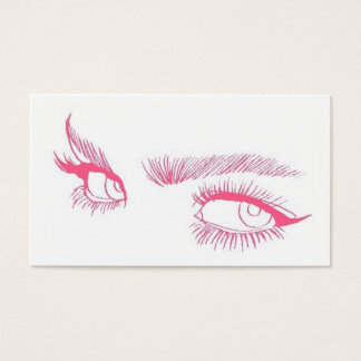 Eyes Makeup Artist Business Card