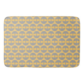 eyes mustard grey bathmat