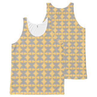 eyes mustard yellow grey All-Over print singlet