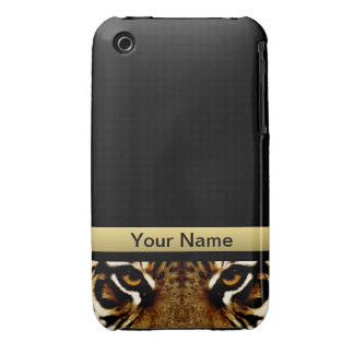 Eyes of a Tiger Personalized iPhone 3 Cover
