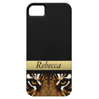 Eyes of a Tiger Personalized iPhone 5 Cases