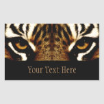 Eyes of a Tiger Personalized Rectangle Sticker