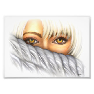 Eyes of Gold Hidding Angel Photo Print