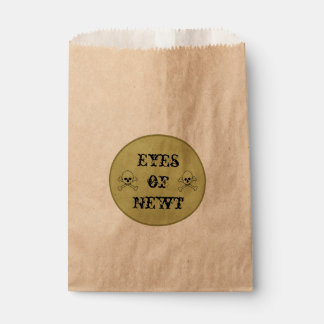 Eyes Of Newt Witch's Potion Label Favour Bag