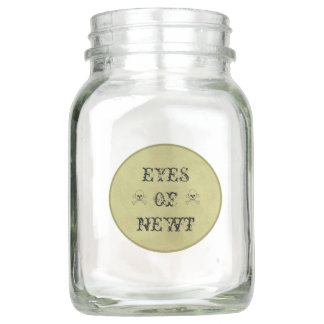 Eyes Of Newt Witch's Potion Label Mason Jar