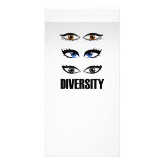 Eyes of women showing diversity personalised photo card