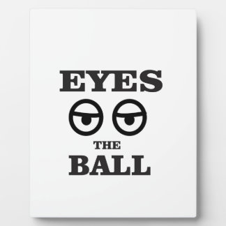 eyes on the ball plaque