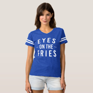 Eyes on the Fries Football Tee