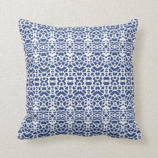 Eyes on You White Blue Throw Pillow