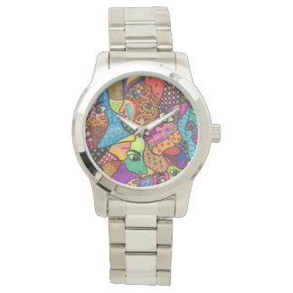 Eyes planet wristwatch