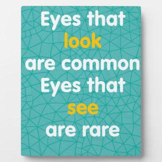 Eyes Plaque