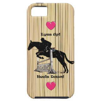 Eyes Up! Heels Down! Horse iPhone 5 Case