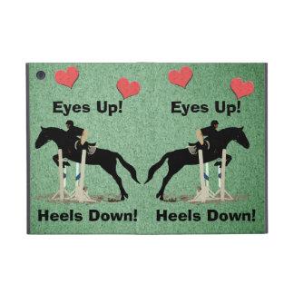Eyes Up! Heels Down! Horse Jumper iPad Mini Cover